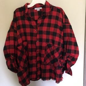 Buffalo Plaid Red Flannel Top